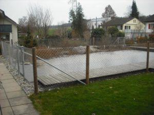 Geflecht zur Sicherung von Gewässern (Teich, Biotop, Weiher)