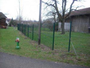 Profilmatten-Zaun grün pulverschichtet