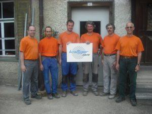 Team Krattiger-Zäune: v.l. Daniel Ess, Andreas Haldemann, Martin Stengele, Martin Utzinger, Hanspeter Curau, René Krattiger
